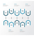 shipment outline icons set collection of sign vector image vector image