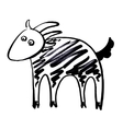 sketch doodle drawing of goat or sheep chinese vector image vector image