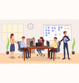 team management coworking vector image vector image