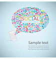 Template design Phone idea with social network vector image