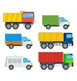 Trucks Cartoon Models Collection vector image vector image