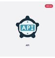 two color api icon from programming concept vector image vector image