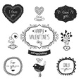 Vintage love labels vector image vector image