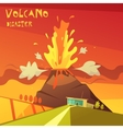 Volcano Disaster vector image