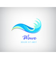 water logo wave icon vector image