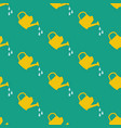 watering can seamless pattern vector image vector image