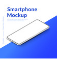 white realistic isometric smartphone mockup 3d vector image vector image