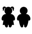 boy and girl basic figure icons vector image