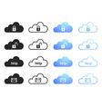 Cloud computing icons - set 4 vector image