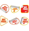 hot price button stickers vector image