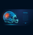 abstract american football helmet rugby vector image vector image