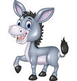 Adorable donkey isolated on white background vector image vector image
