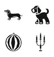 animal cooking and or web icon in black style vector image vector image