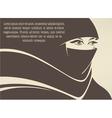 arabian beauty vector image vector image