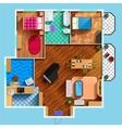 Architectural Floor Plan vector image vector image