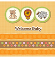 baby shower card with funny animals vector image vector image