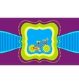 bicycle on a label template background vector image