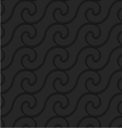 Black 3d horizontal spiral thin waves vector image vector image