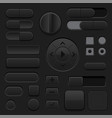 black interface buttons 3d set ui icons vector image vector image