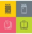 Book icon set for school vector image vector image