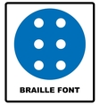 Braille icon simple style vector image