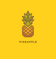 bright colorful pineapple geometric logo vector image vector image