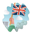 bright watercolor england flag with grunge effect vector image vector image