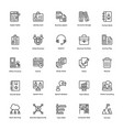 business and finance line icons 2 vector image vector image
