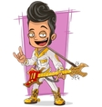 Cartoon handsome rock and roll guy vector image vector image