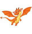 cartoon happy dragon vector image vector image