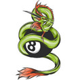 chinese green dragon of power and wisdom flying vector image
