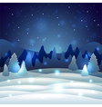 Christmas winter scenery with snowy nature vector image vector image