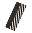 comb silhouette isolated icon vector image