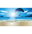 Couple Parasailing by the Beach vector image