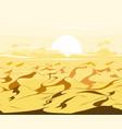 desert dunes egyptian landscape background sand vector image