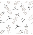 Doodle dresses and hangers seamless pattern vector image vector image