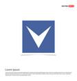 down arrow icon - blue photo frame vector image vector image