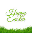 easter grass border vector image vector image