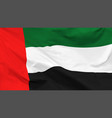 flag united arab emirates vector image