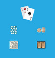 flat icon play set of dice multiplayer lottery vector image vector image