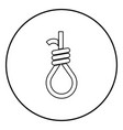 gallows with rope noose icon black color in vector image