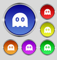 Ghost icon sign Round symbol on bright colourful vector image vector image