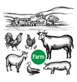 Hand Drawn Farm Set vector image vector image