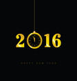 happy new year clock 2016 vector image vector image