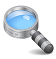 Icon for magnifying glass vector image vector image