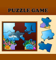 jigsaw puzzle educational game for preschool child vector image vector image