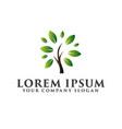 landscaping leaf garden tree logo design concept vector image vector image