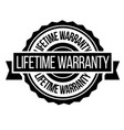 lifetime warranty stamp on white vector image vector image