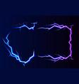 lightning - isolated on blue background vector image