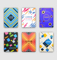 modern design cover collection vector image vector image